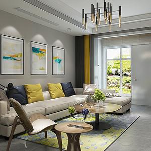 想象国际98平二室二厅现代简约风格装修案例