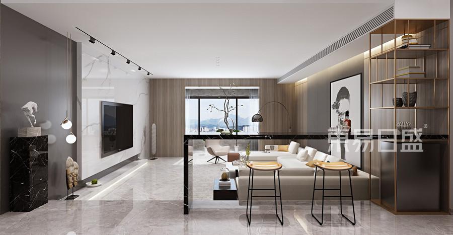 现代简约平层客厅装修效果图