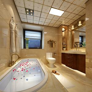 卫生间四居室-欧式古典-装修效果图