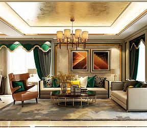 大连欧式古典装修-客厅
