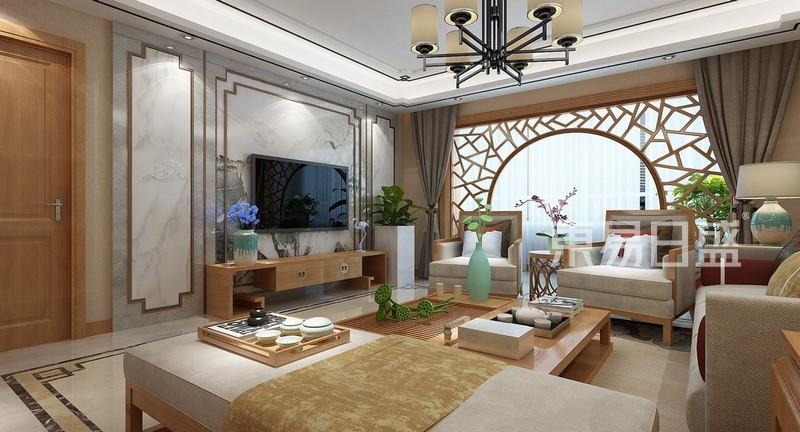 新世界花园一区3-客厅装修效果图