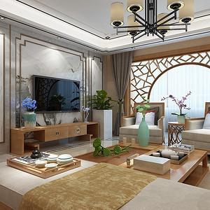 新世界花园一区3-新中式装修风格-253平米