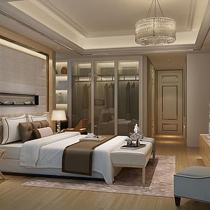 卧室现代奢华装修效果图