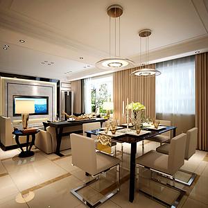 餐厅效果图功能分区的设计方式以及上下-第230页 西安现代简约餐厅装