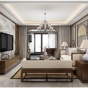 客厅(简单的线条,给人利落的空间感。