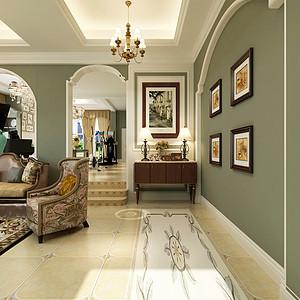 美式风格客厅背景墙