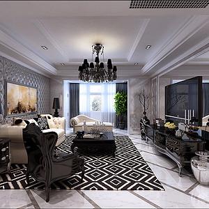顺驰领海180平米三居室新古典风格效果图