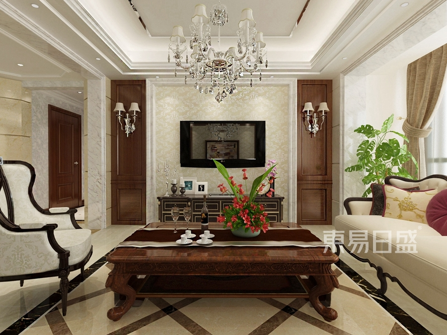 万科溪之谷 新中式 客厅装饰