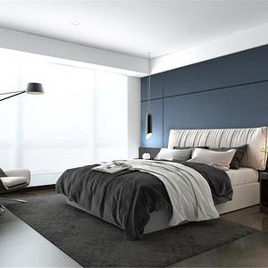 华侨城-现代简约-320平米卧室