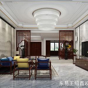绿地华庭580平米新中式风格装修效果图