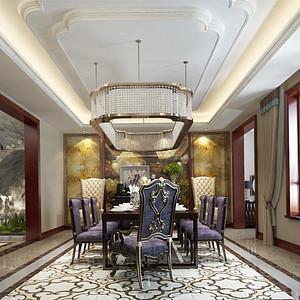 首创国际半岛新古典风格餐厅装修效果图