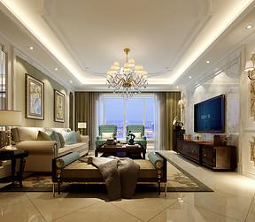 客厅三居室-简欧-装修效果图