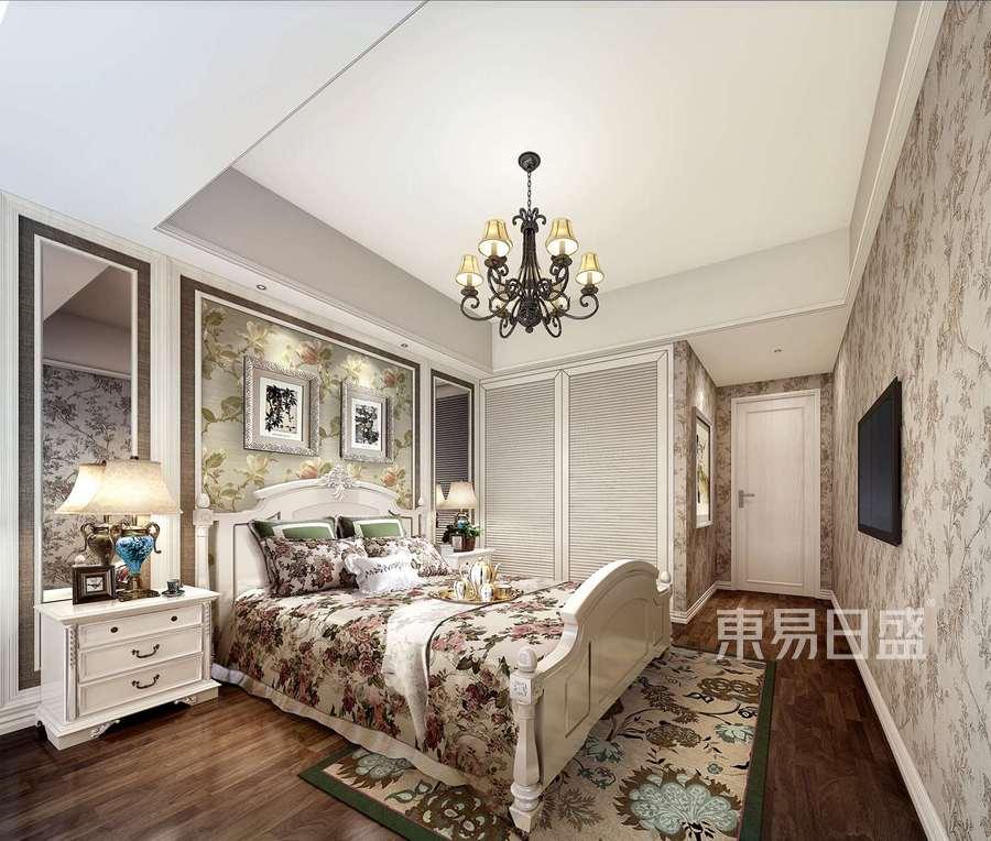 深圳裝修公司東易日盛-田園風格案例-二居室裝修設計-臥室裝修效果圖