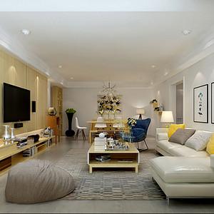 壹瓶小区180平米三居室现代简约风格效果图