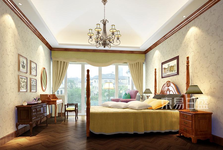 香格里拉美式乡村风格卧室