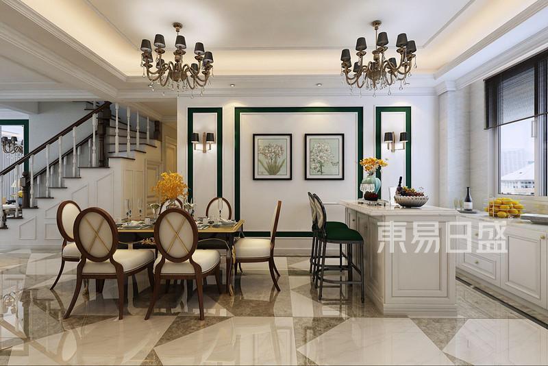大连新古典装修-餐厅