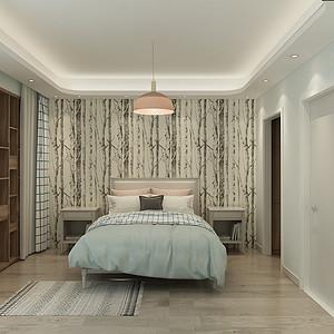 泽天下北欧极简风格卧室装修效果图