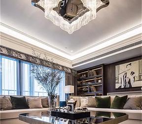 现代中式轻奢风格客厅