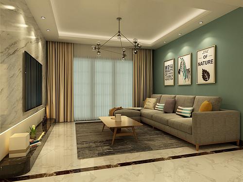 信达天御-122平米-现代简约风格-三居室装修案例效果图