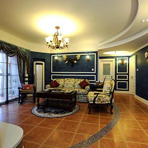 万博汇145平抽象美式三居客厅