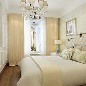 欧式新古典风格-卧室-装修效果图