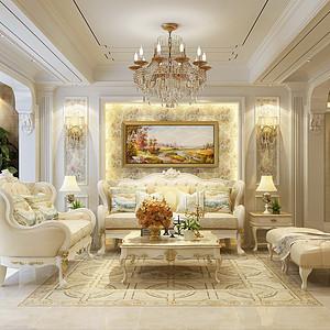 联邦东方明珠180平四室二厅欧式风格装修案例