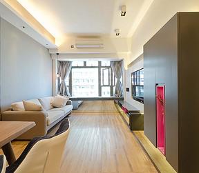 常平半岛豪庭现代客厅实景图