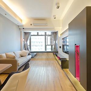 常平半岛豪庭装修案例 60㎡现代风二房二厅实景图