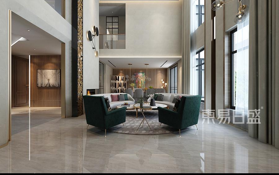 现代意式风格客厅装修设计