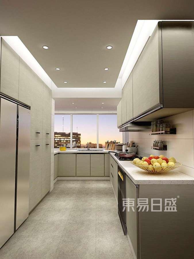 深圳装修公司东易日盛-鸿威海怡湾装修设计-美式风格案例-厨房装修实景效果图