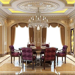 普霖花园法式宫廷餐厅装修效果图-餐厅装修效果图 餐厅装修图片 餐厅