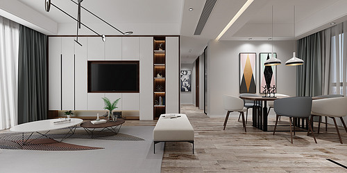 金融街官邸-现代北欧-120平米
