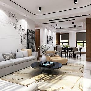 新中式风格沙发背景墙