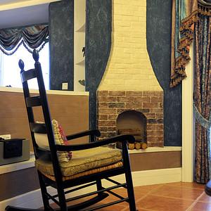 万博汇145平抽象美式三居客厅小景