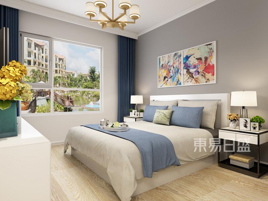 仁恒美林郡现代简约风格卧室装修案例效果图