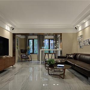 扬州奥园观庭278平上叠现代风格