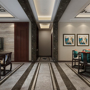 熙和园新中式风格走廊装修效果图