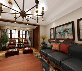 美式风格设计客厅1