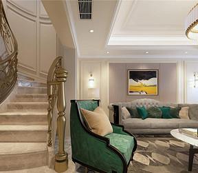 美式轻奢客厅装修设计效果图