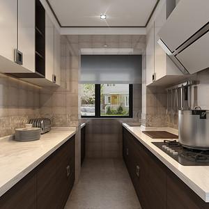三居室-厨房-效果图
