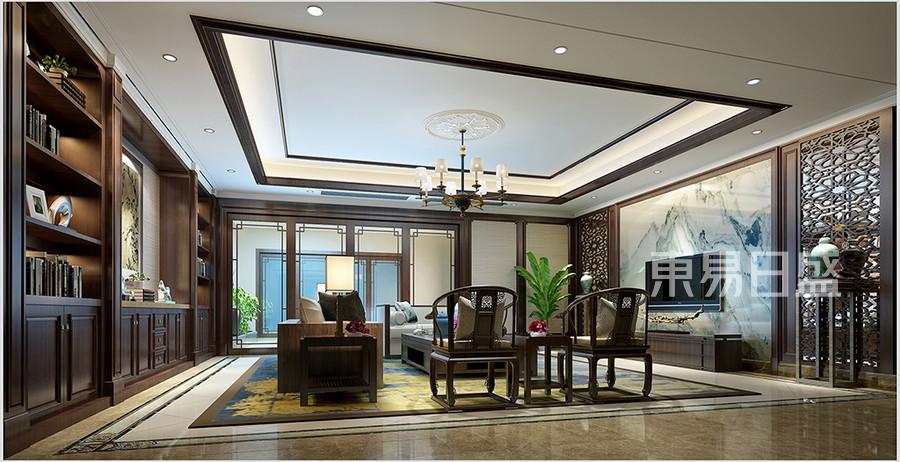 名门世家新中式风格客厅