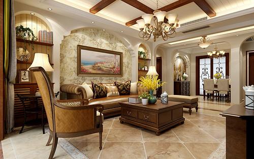 林荫大院-三居室-美式风格效果