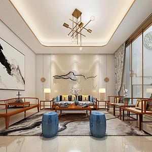 公园360 轻奢中式 客厅装饰