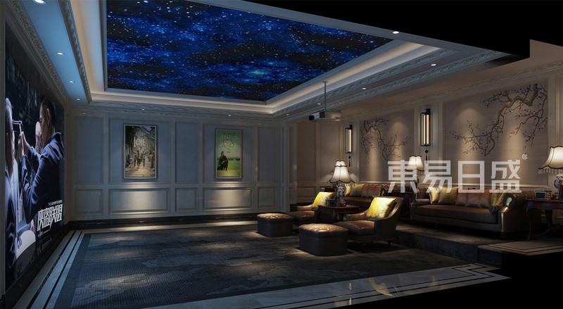 影音室欧式护墙板与星空吊顶相得益彰效果图_装修效果