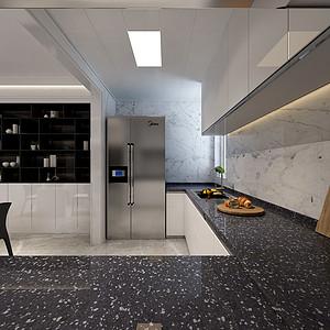 现代风格-厨房-装修效果图