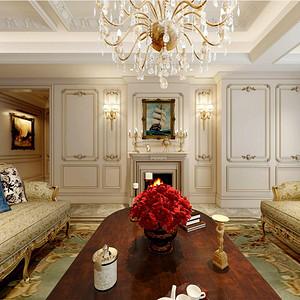 法式风格客厅装修设计效果图