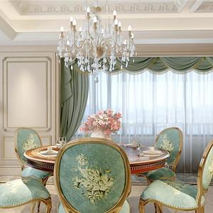 法式风格餐厅装修设计效果图