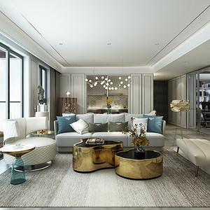 壹方中心玖誉 现代简约装修效果图 160平米 新房装饰设计