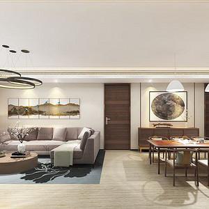 燕西华府-新中式装修风格-280平米