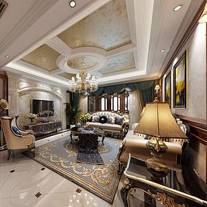 优品道135㎡三居室古典美式风格